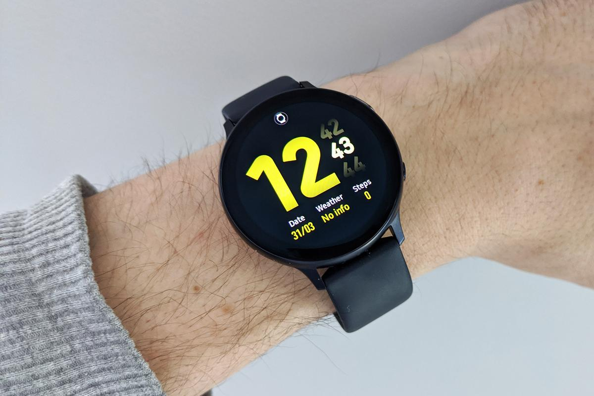 The Samsung Galaxy Watch Active 2 runs Samsung's own Tizen software