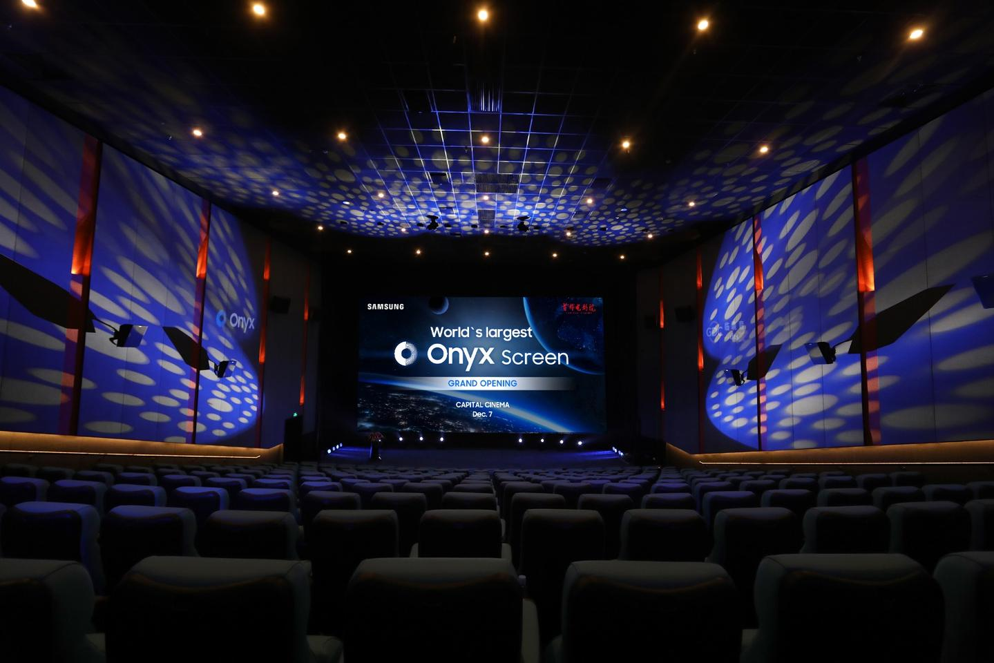 """Capital Cinema says that movie-goers can look forward to a """"best in class cinema experience"""" thanks to Samsung's huge Onyx Cinema LED screen"""