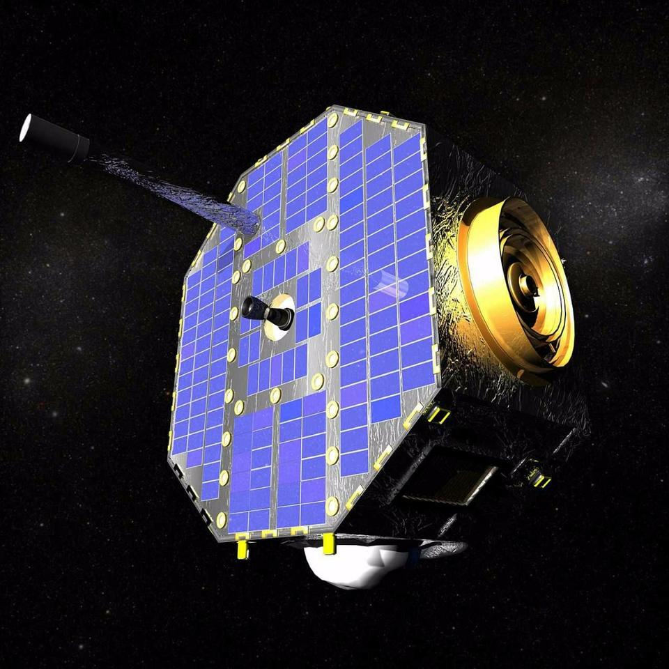 Artist's concept of the IBEX satellite