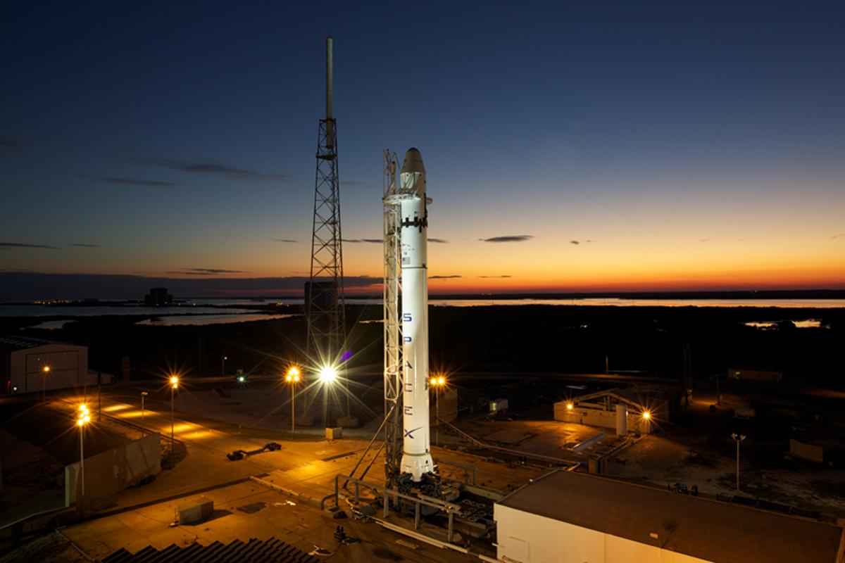The SpaceX Falcon 9 rocket on its pad at Cape Canaveral, Florida (Photo: SpaceX/Roger Gilbertson)