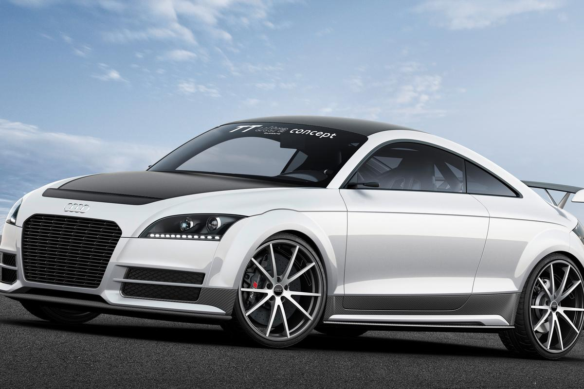 The TT Ultra Concept handles better, brakes faster and is quicker to 100 km/h (62 mph) in only 4.2 seconds
