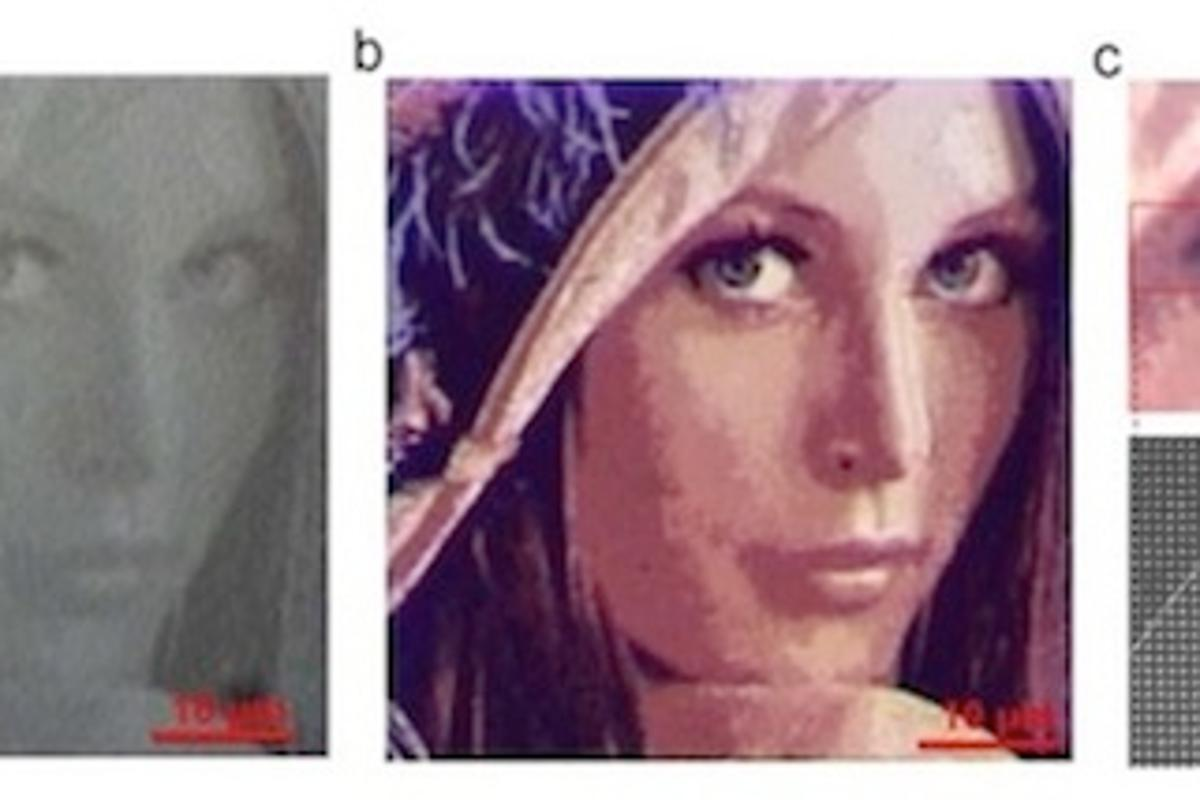 The above image of Playboy model Lena Söderberg, ubiquitous to image processing experiments, was used to highlight the refined color detail that the new method achieves