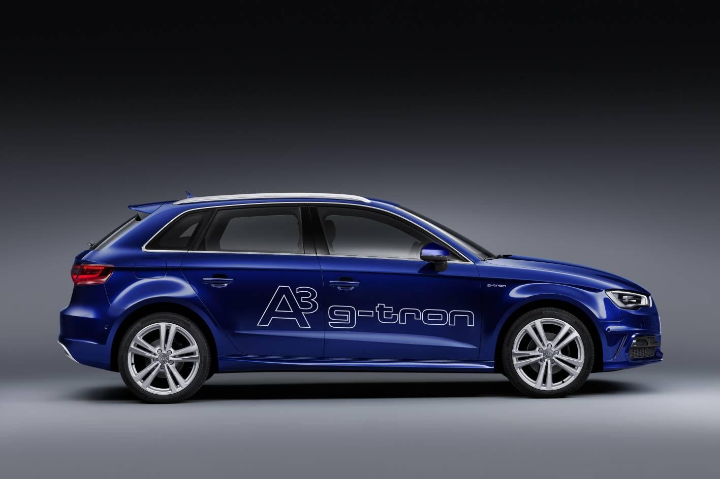 """Powered by Audi's CO2-neutral """"e-gas,"""" the g-tron sportback will incorporate CNG (compressed natural gas) as its primary motivational option"""