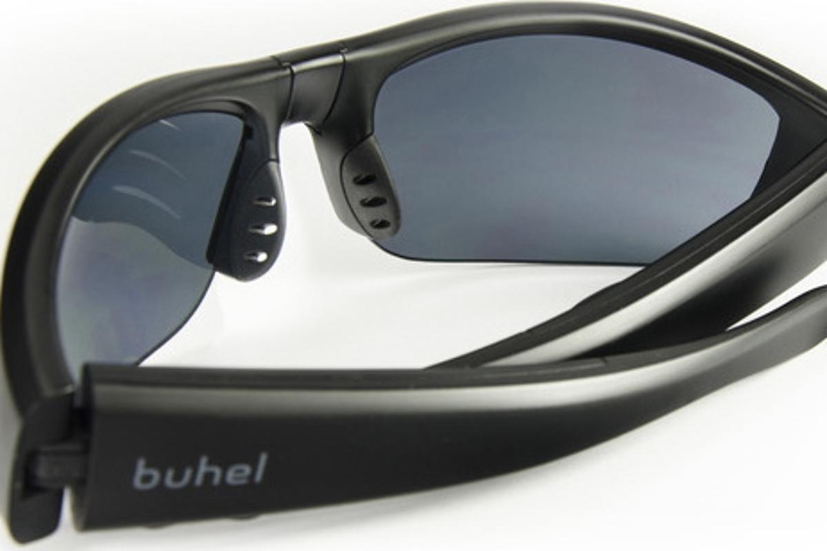 Buhel's SG05 SoundGlasses relay calls using bone conduction technology