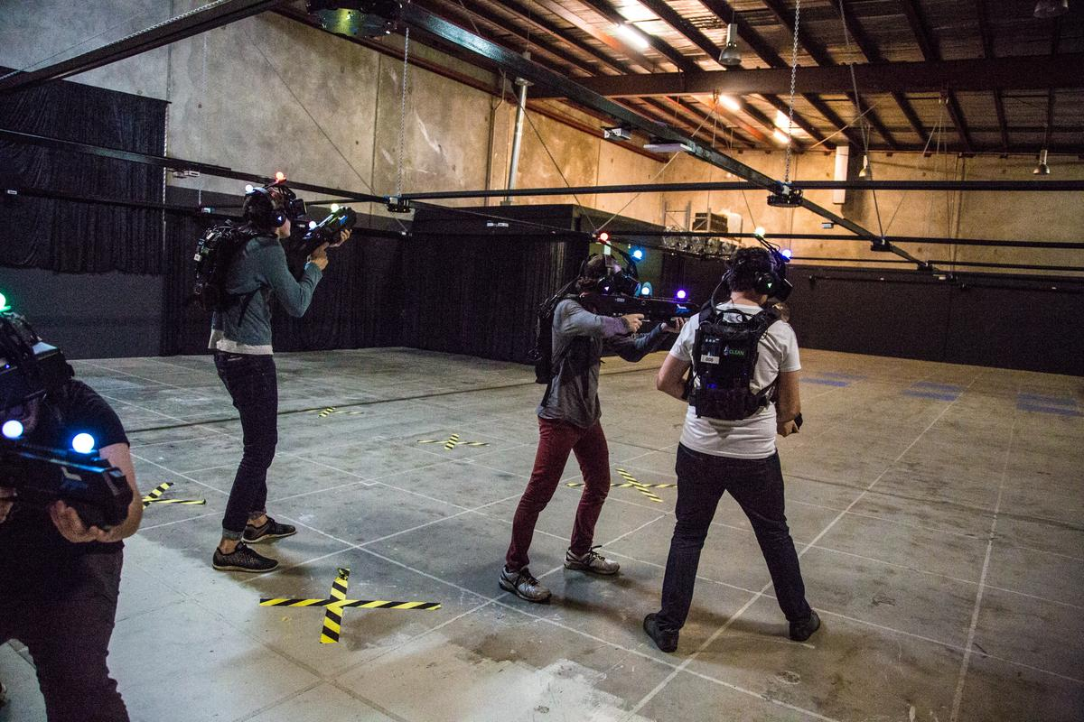 Up to six players work as a team to move through a building infested with zombies
