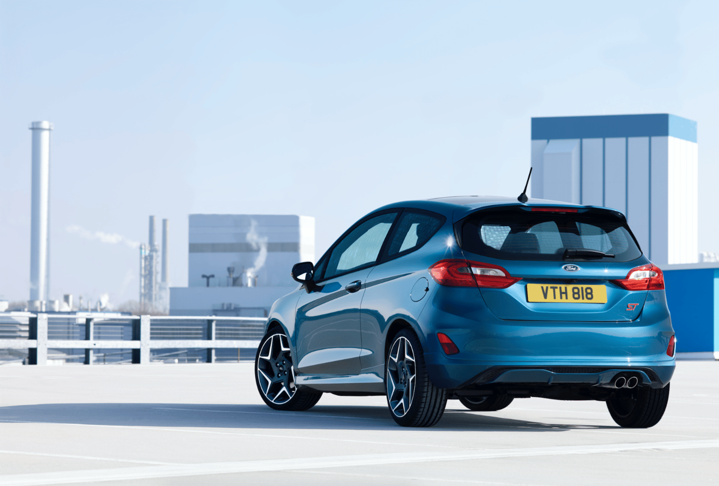 The new FiestaSTis powered by a three-cylinder turbo engine