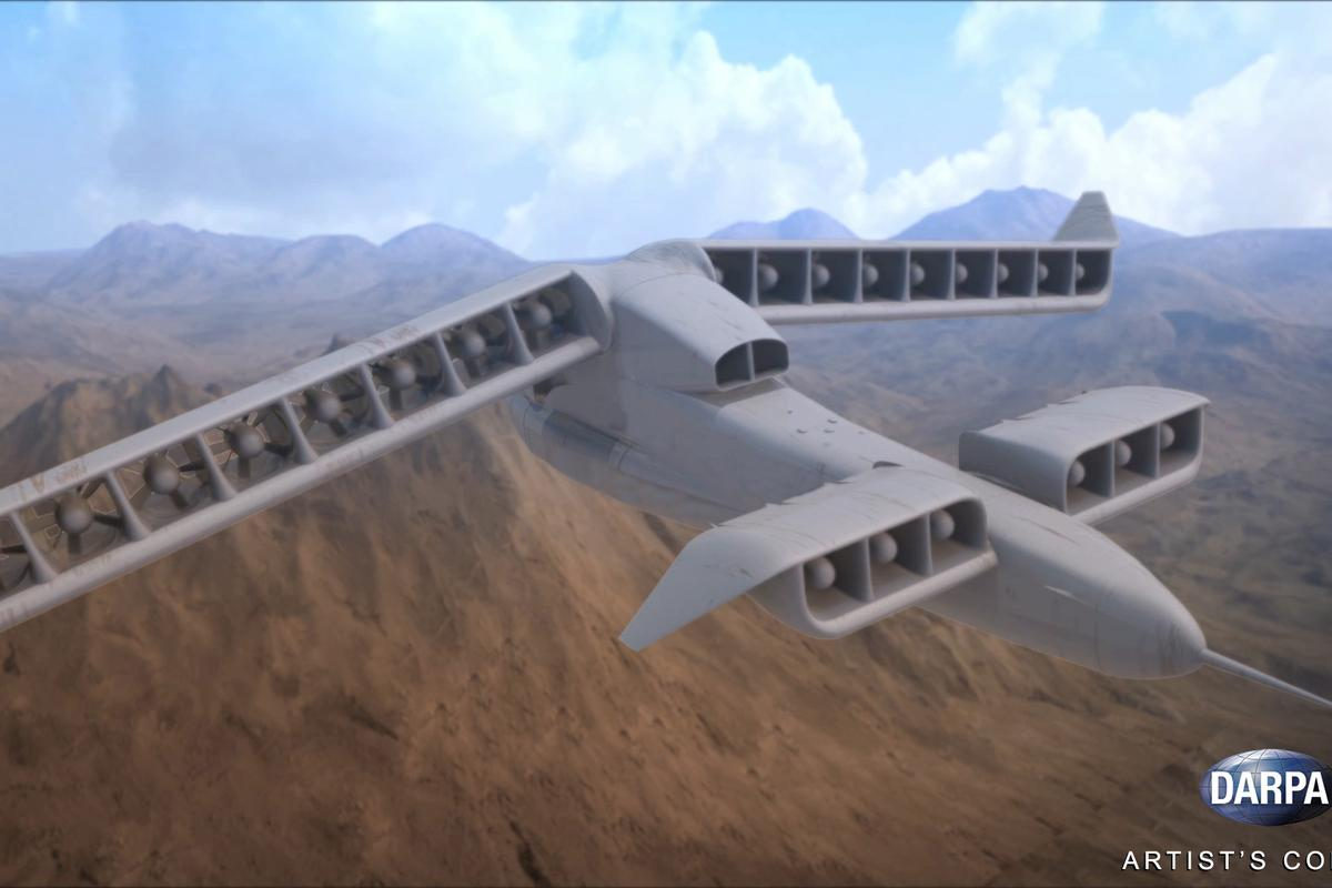 DARPA's Vertical Takeoff and Landing Experimental Plane (VTOL X-Plane) program seeks to combine fixed-wing and rotary-wing technologies