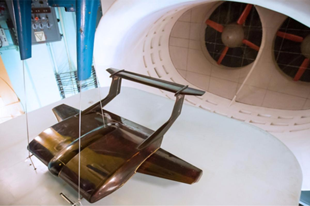 Wind tunnel model of the TsAGI heavy transport