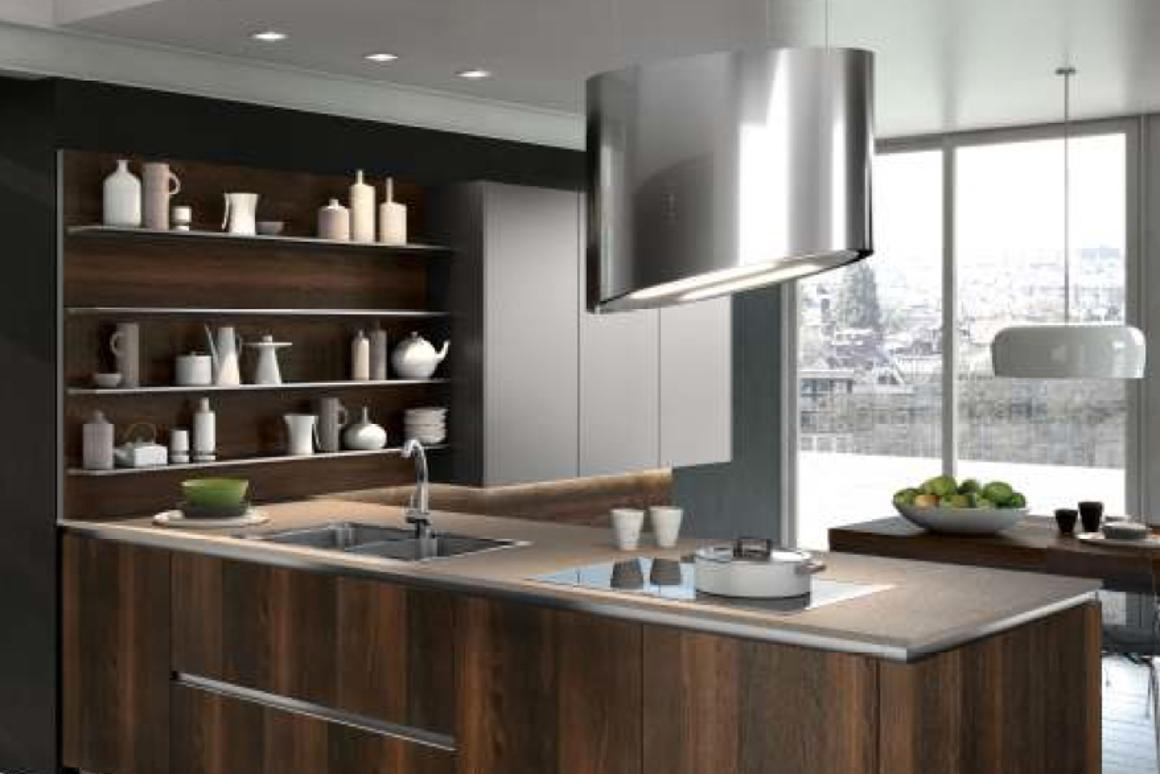 """Snaidero's """"green"""" rangehood doesn't need any exhaust pipes, opening up new possibilities for kitchen design"""