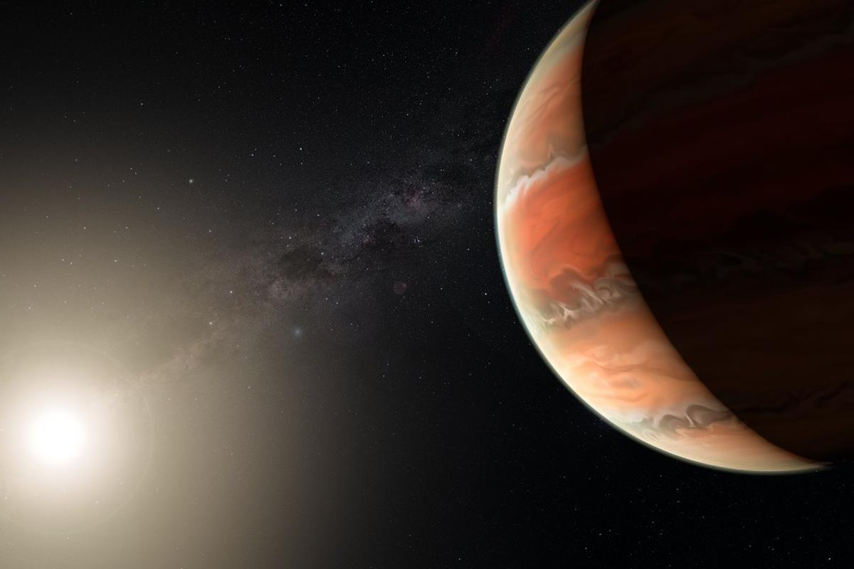 """Astronomers have detected titanium oxide in theatmosphere of the """"hot Jupiter"""" exoplanet, WASP-19b"""