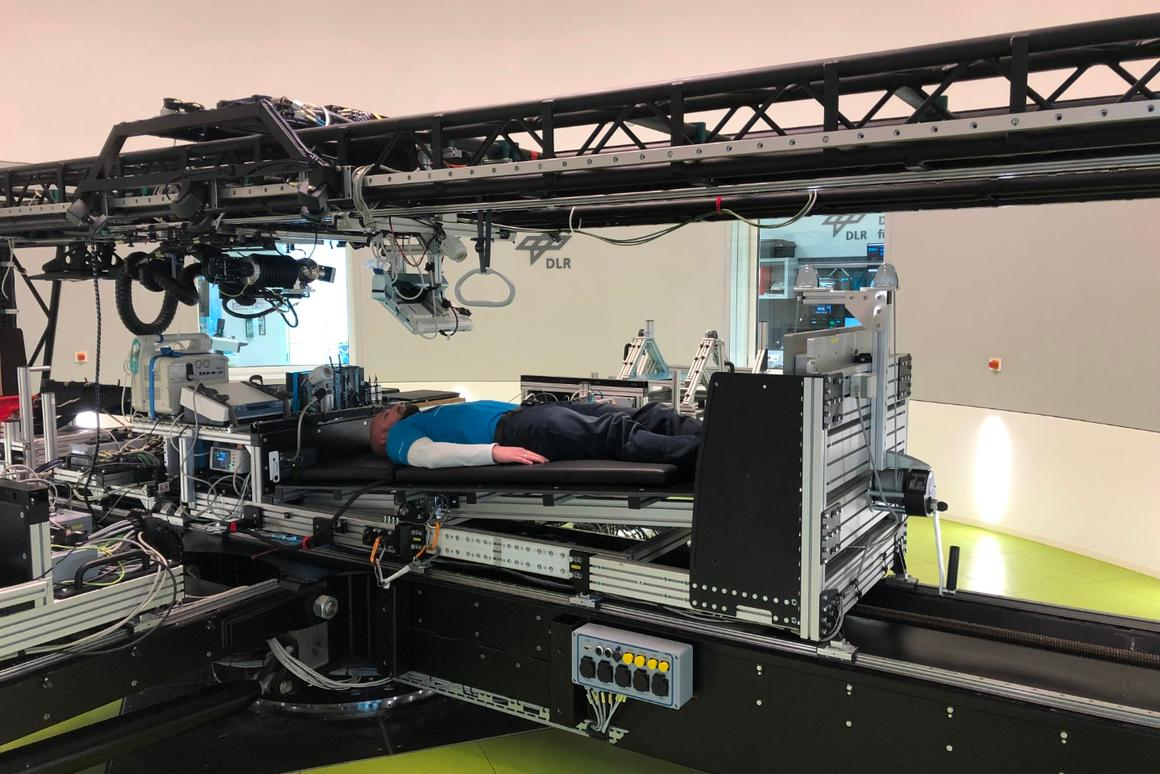 A new study will examine the effects of artificial gravity on astronauts by having participants lie in bed in a centrifuge