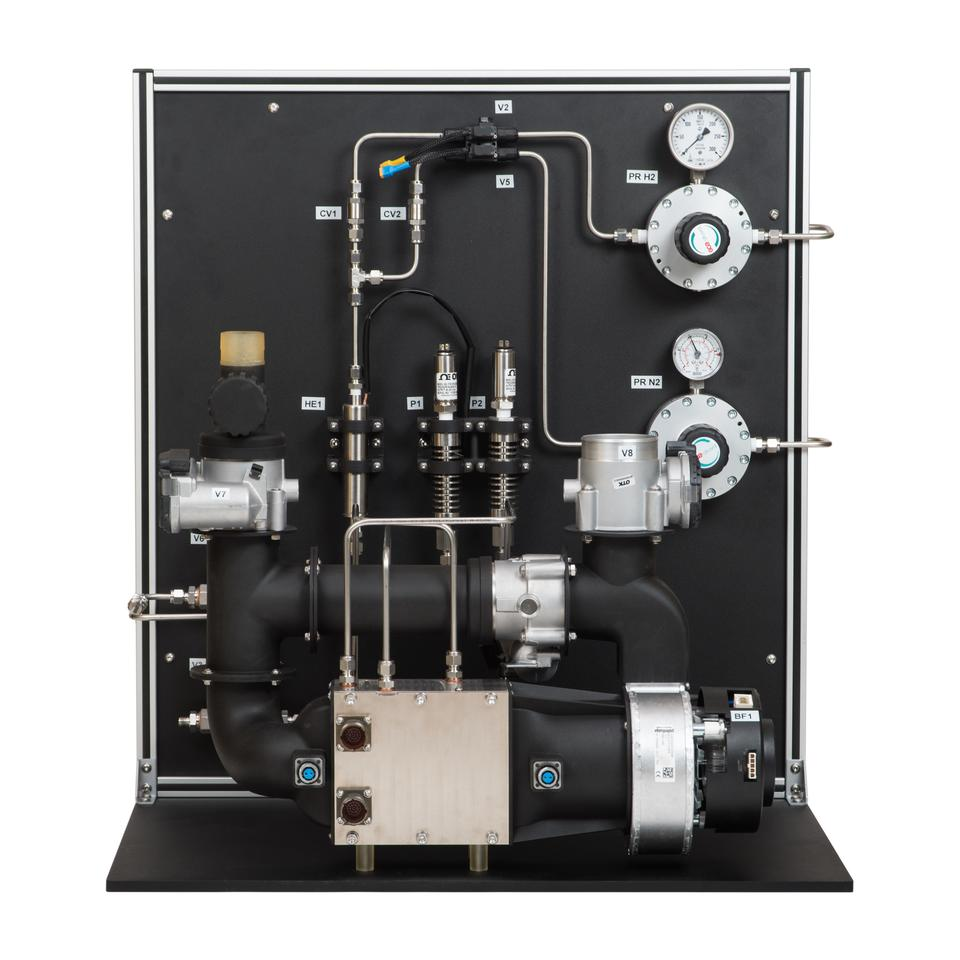 HyPoint's lab validation prototype for its turbo air-cooled fuel cell