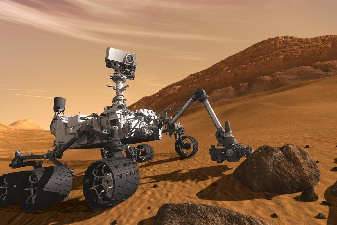 Artist's concept of Curiosity (Image: NASA)