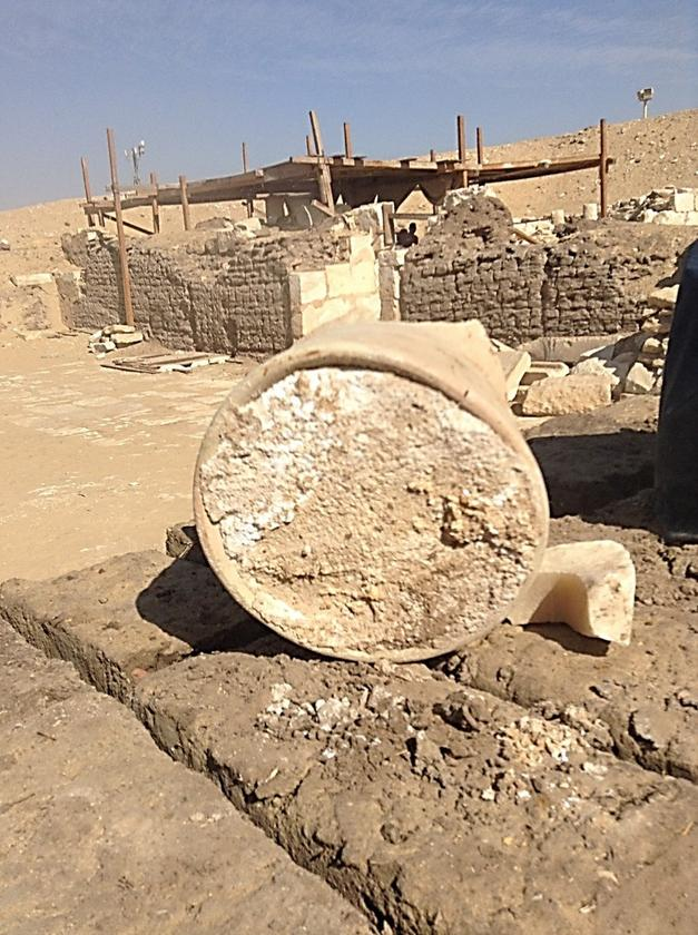 The cheese was initially collected during excavations conducted by a team from Saqqara Cairo University