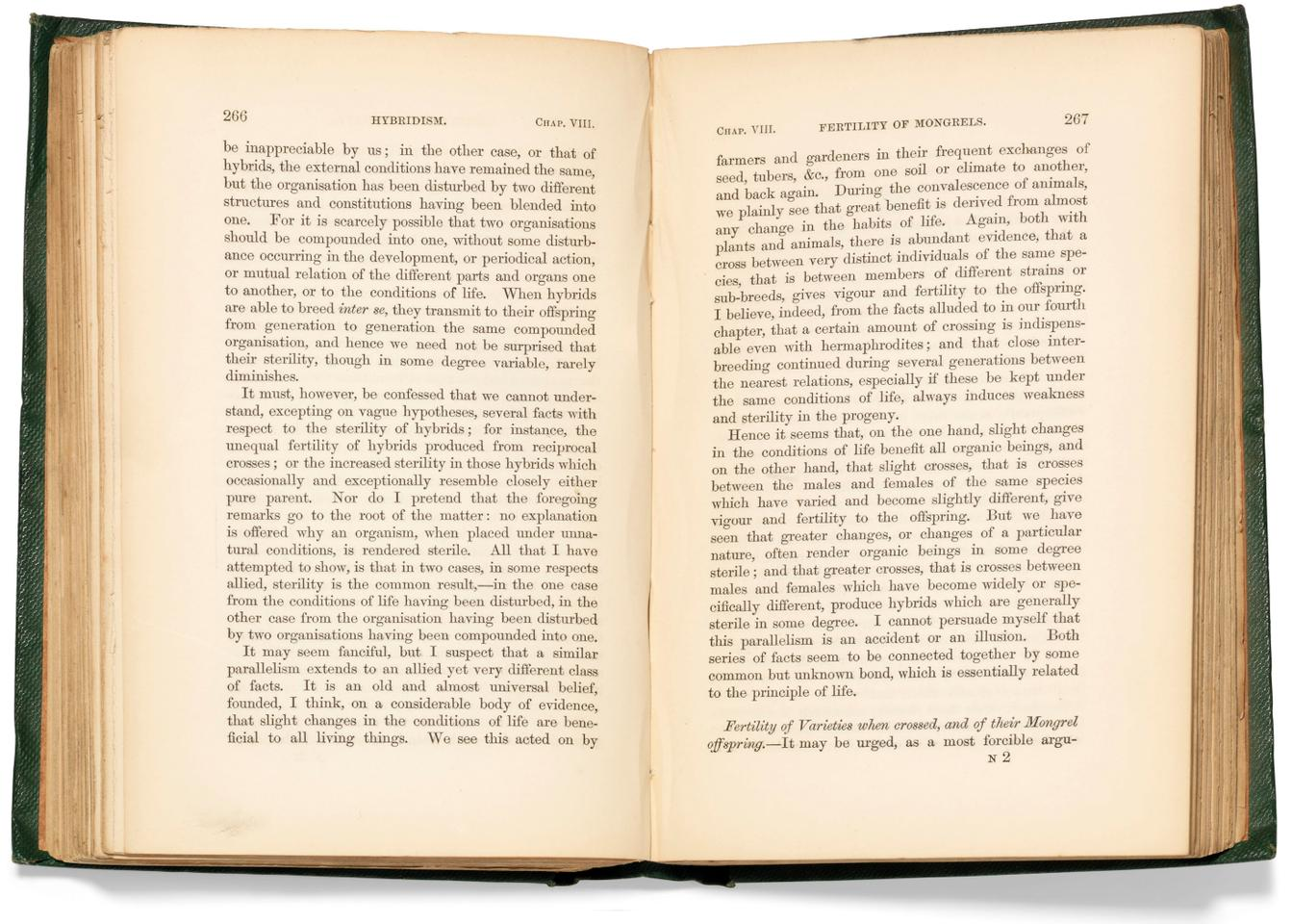On the Origin of Species by Means of Natural Selection by Charles Darwin (1859)  Auction Description  Estimate: 177,240 to $253,200   Auction Date: July 9, 2019