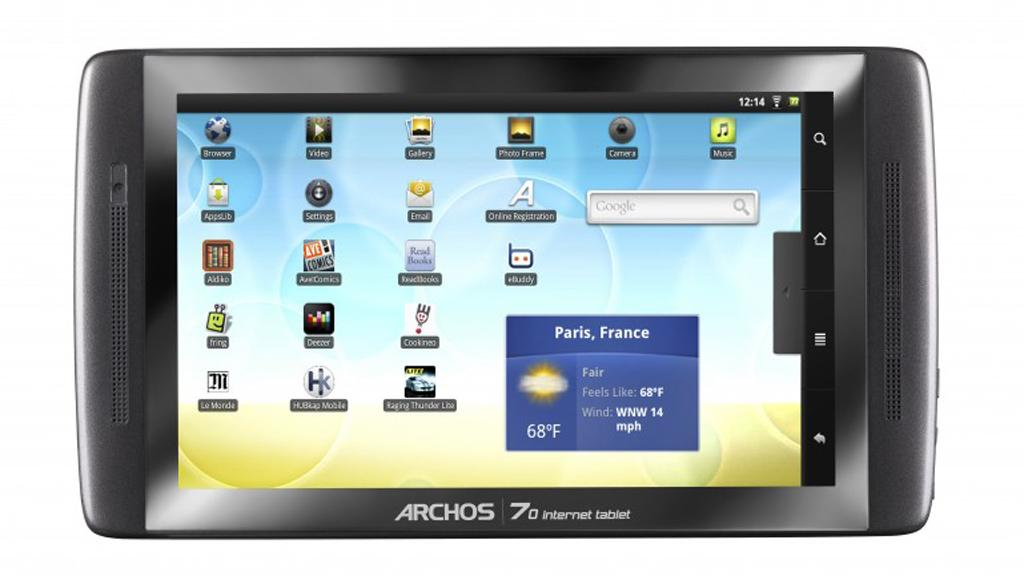 The Archos 70 internet tablet is now available in a 250GB version