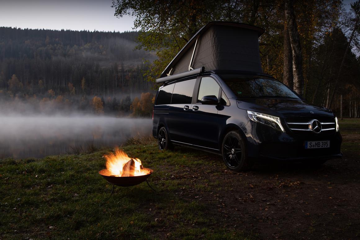 Rustic camping meets connected van life