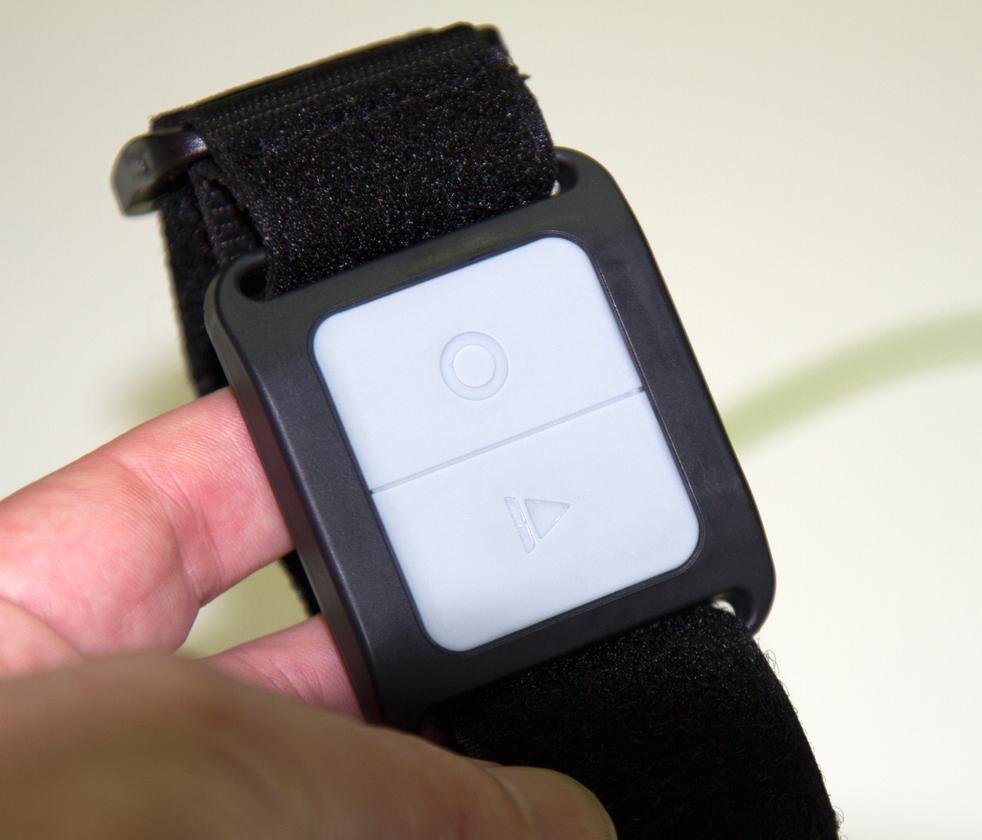 The Camileo X-Sports' wireless remote control