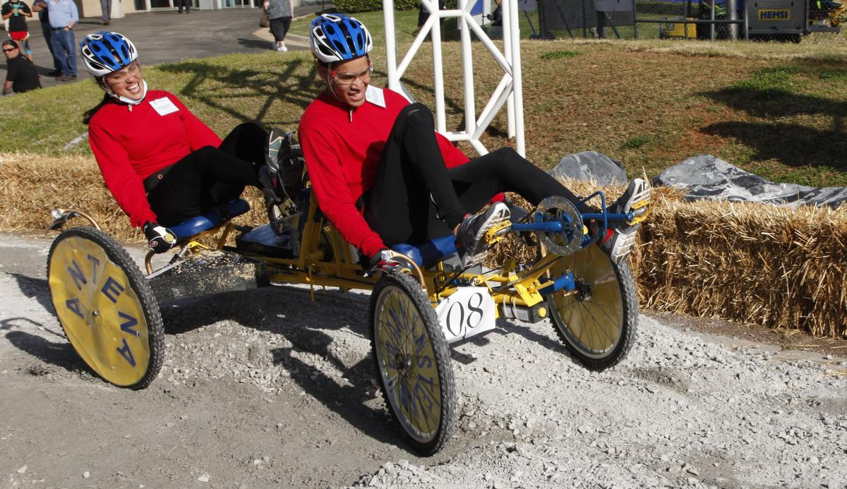 The first-place winner of the 2013 NASA Great Moonbuggy Race (high school division) was an entry from Teodoro Aguilar Mora Vocational High School in Yabucoa, Puerto Rico