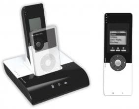 Bexy's iMirror lets you dock your iPod to your home stereo and control it through a full-featured LCD remote.