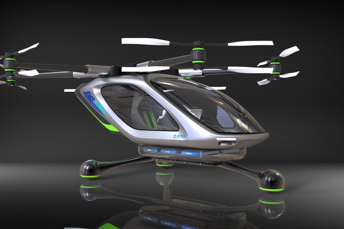 Jetpack pioneer David Mayman's new electric VTOL flying car