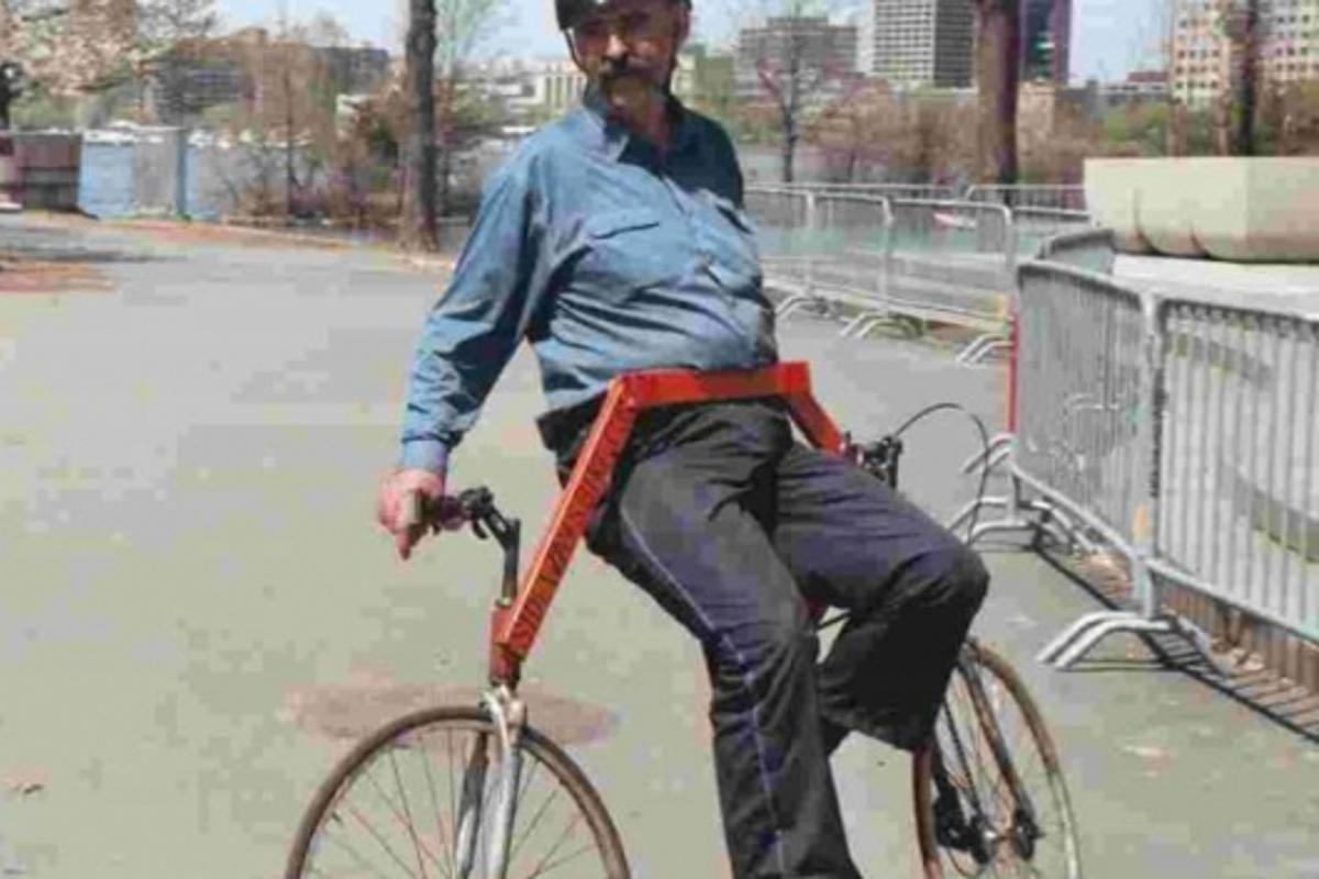 Michael and his Sideways Bike
