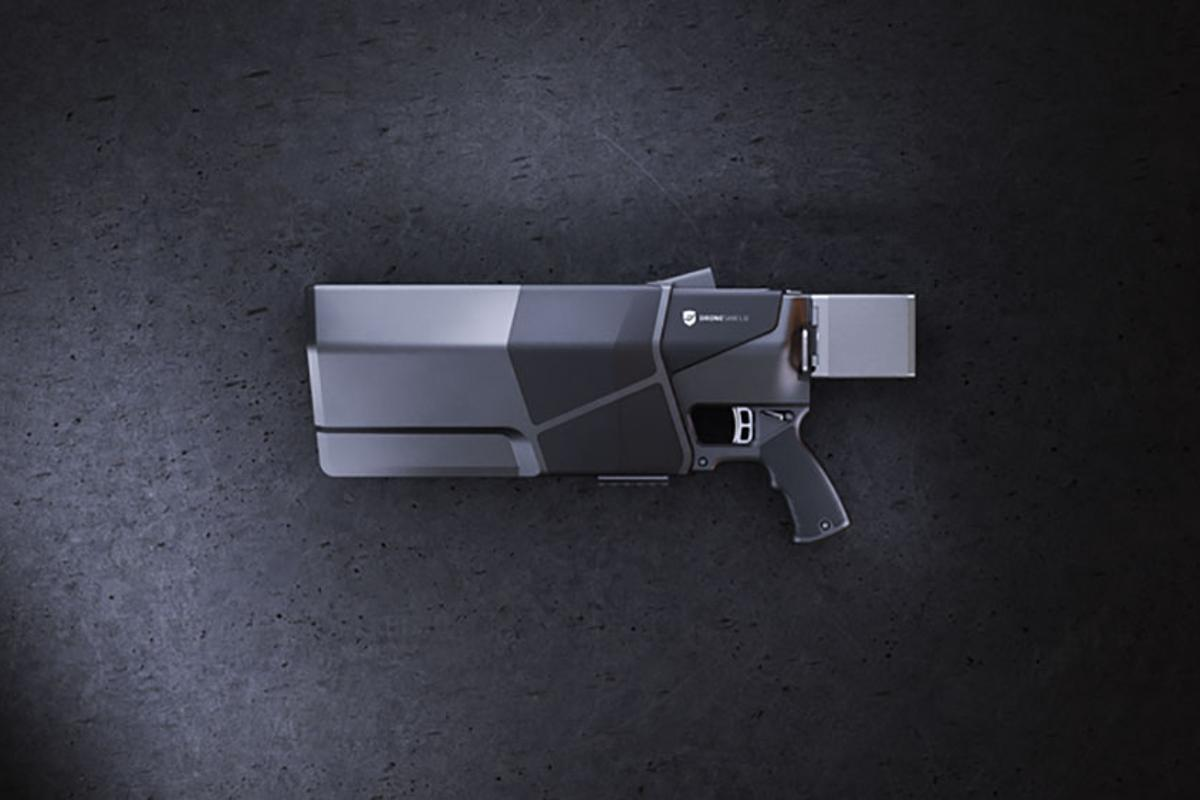 The DroneGun MkIII will work on drones within a 500-m (0.3-mi) range