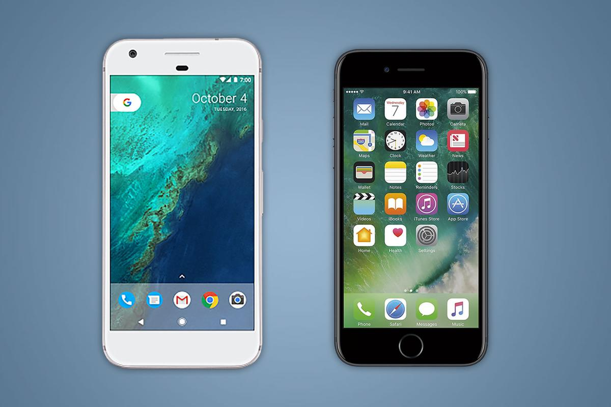 Spec-by-spec comparison of Google's Pixel phone and the iPhone 7