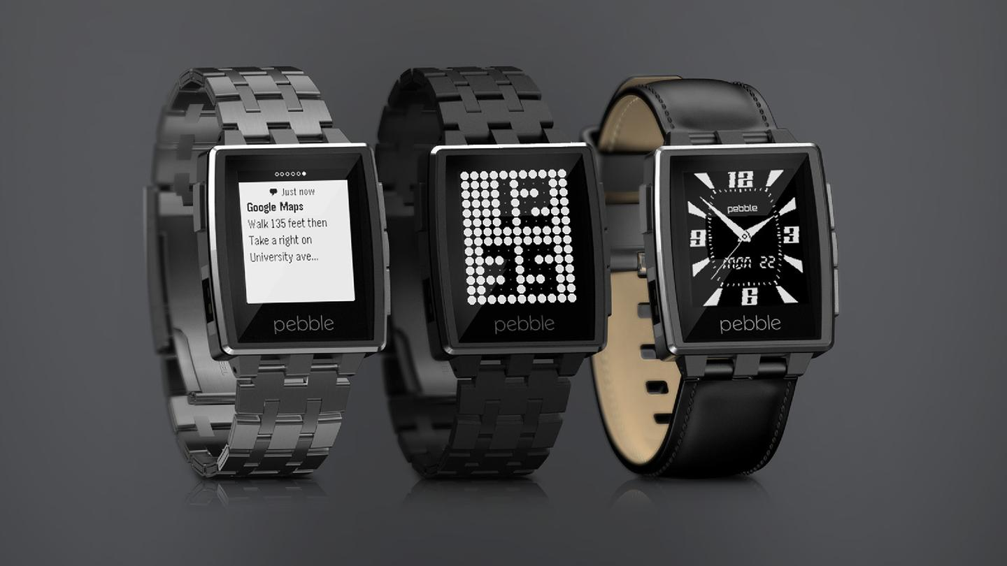 Pebble Steel is sold in two variations, Brushed Stainless and Black Matte