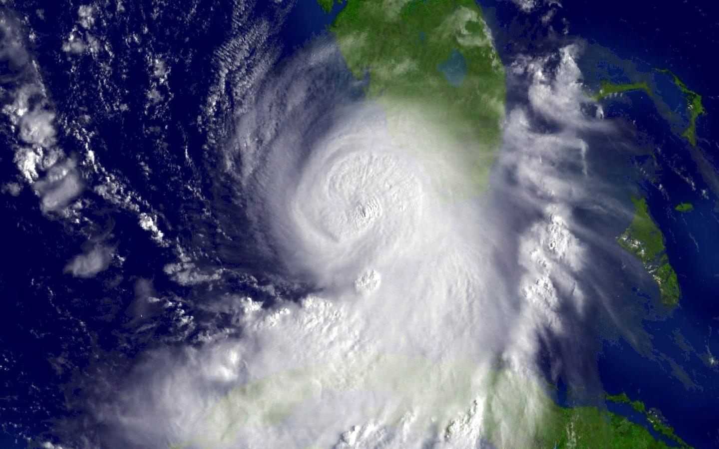 Hurricane Katrina, seen here, is tied with Hurricane Harvey as being the costliest tropical cyclone on record