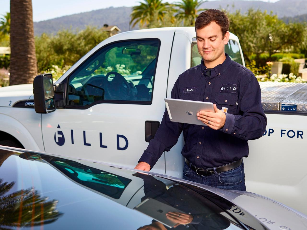 Filld for Bentley is being provided in partnership with US startup Filld