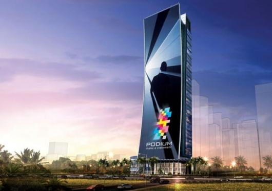Rendering of the Podium tower