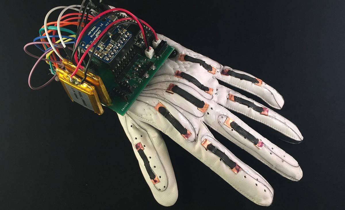 The Language of Glove is a sensor-packed glove that translates the gestures of sign language into text