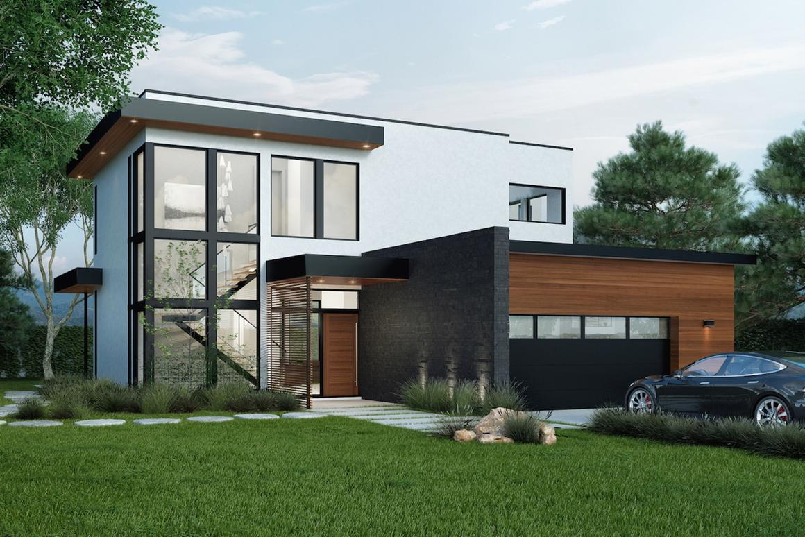 The Jacobson Residence will cover 3,200 sq ft (297 sq m)