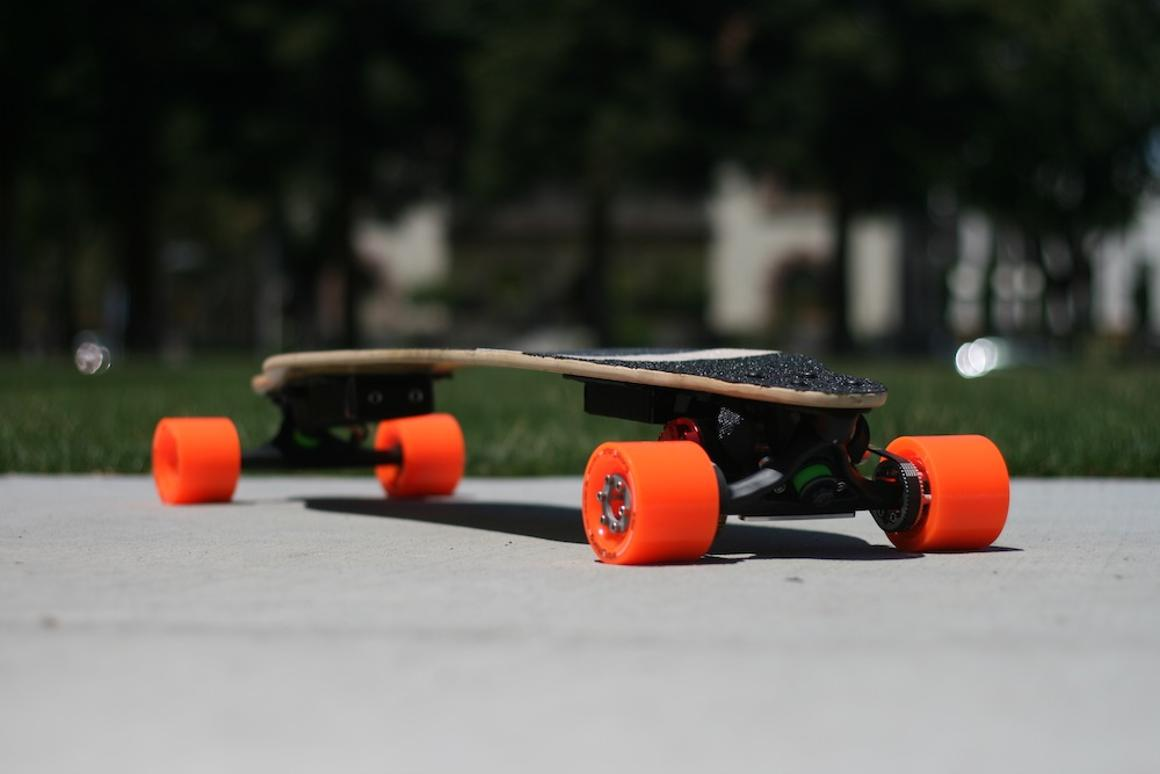 """Boosted Boards markets its longboard as a """"last mile"""" transport system"""
