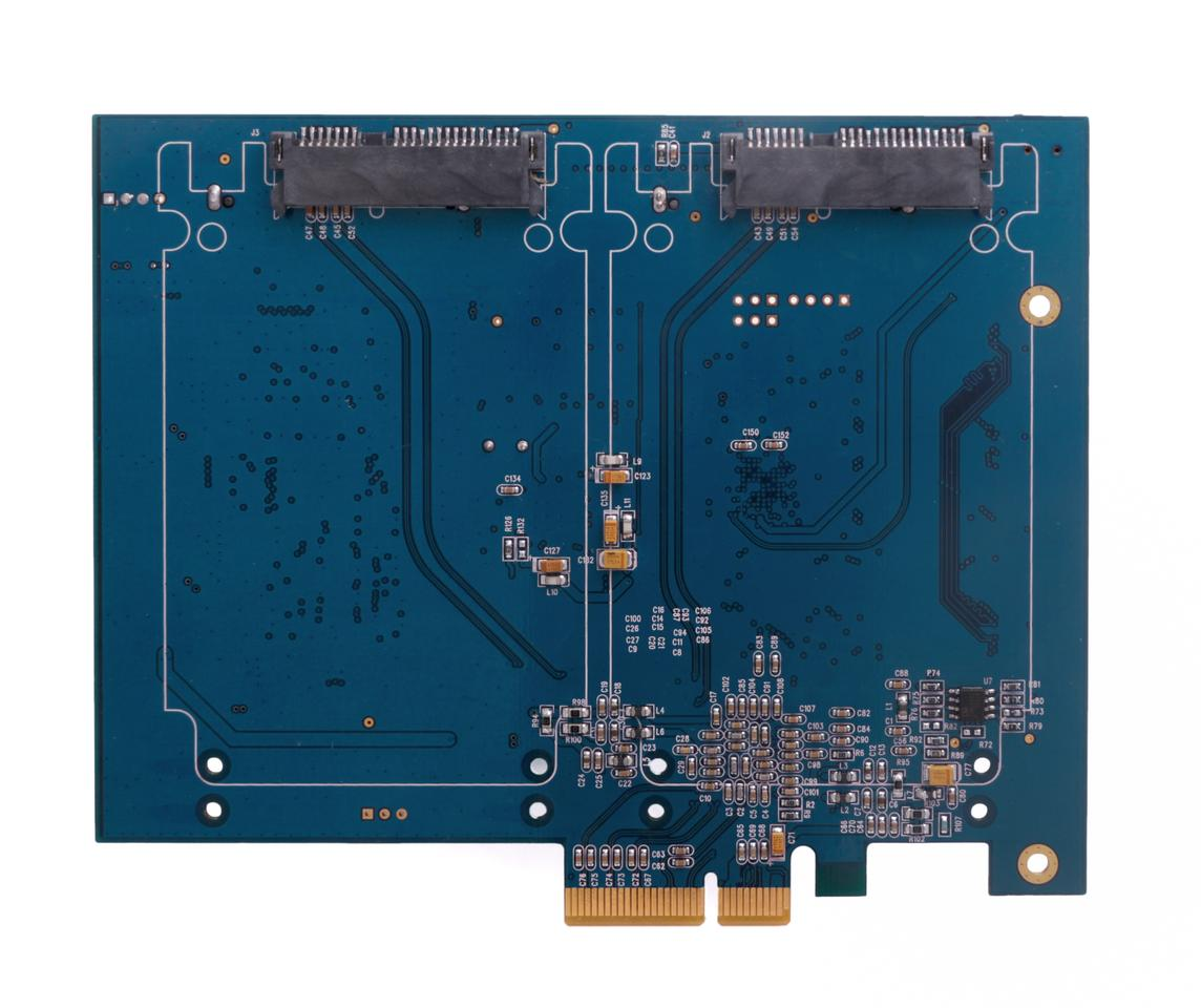 The only x4 PCIe card on the market that allows you to congregate and boot on Mac and PC up to 2TB of ultra fast SSD