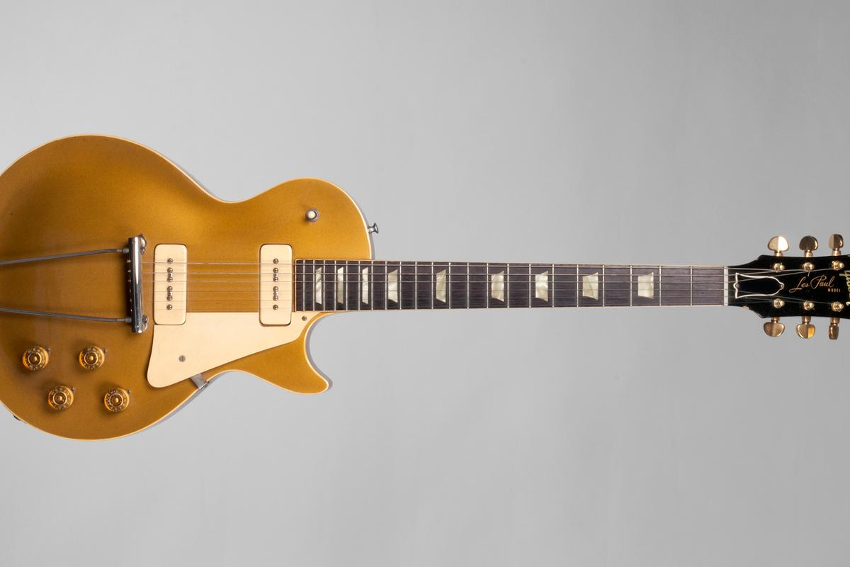 Equipment, memorabilia, personal effects and instruments spanning the entire career of Les Paul, including this 1952 Gold Top, are to be auctioned off for charity in June 2012