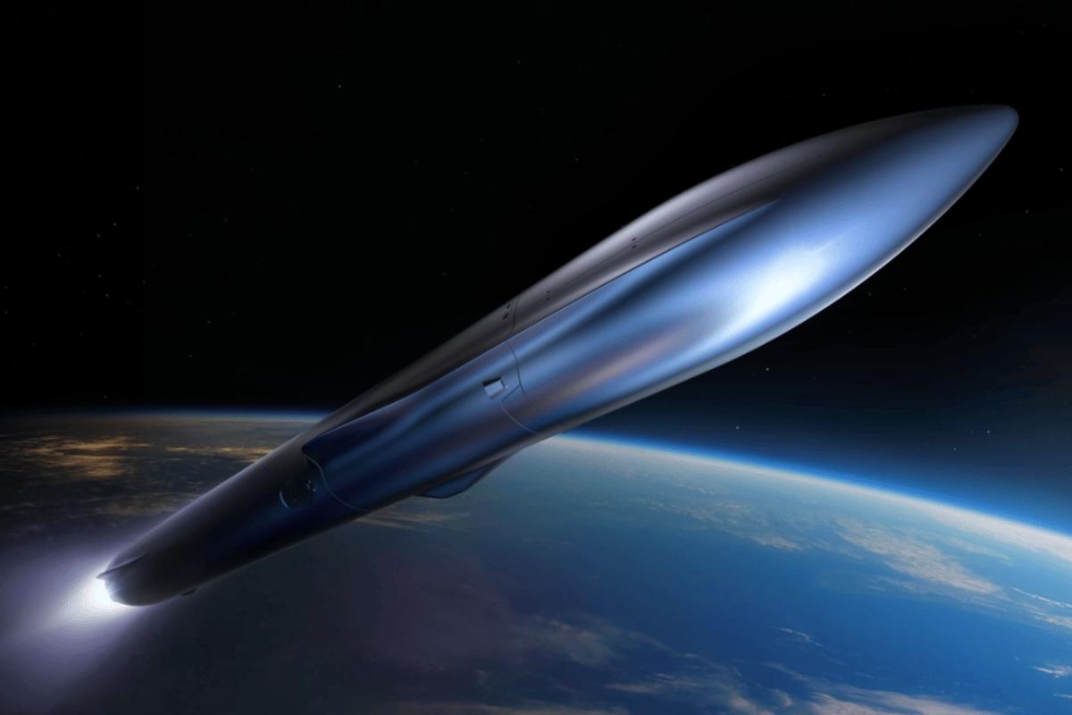 A render of Relativity Space's Terran R rocket