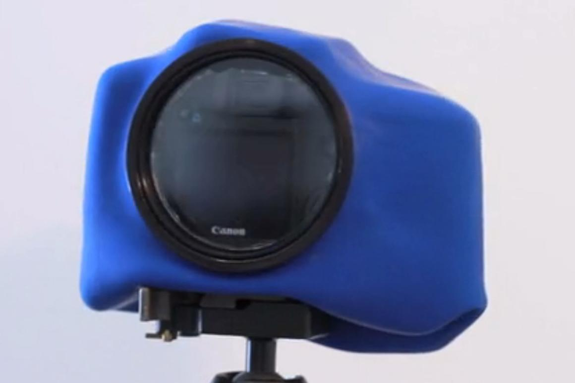 """The """"Big O"""" adds a large LCD viewfinder window to the Outex weather and waterproof housing system"""