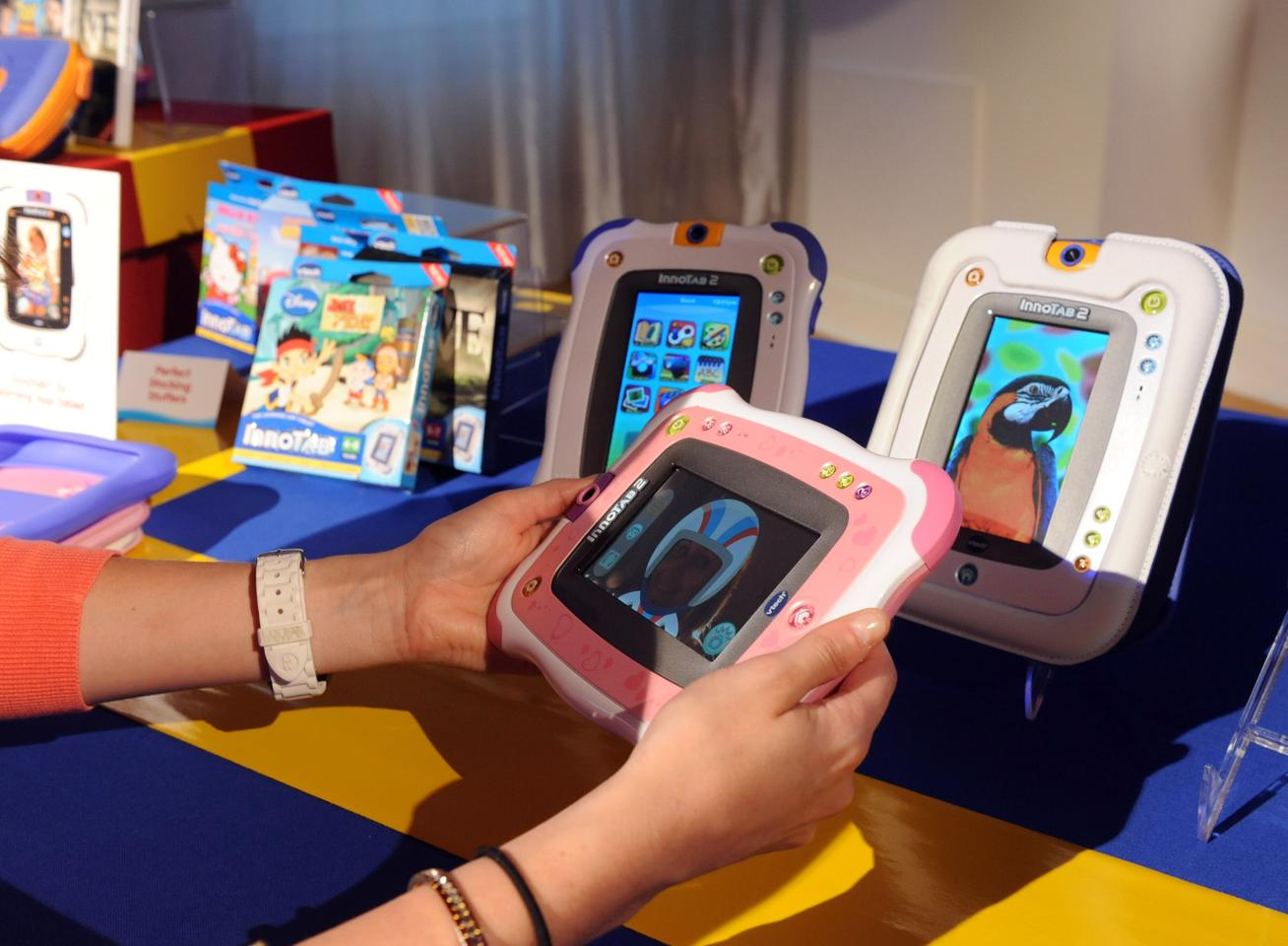 The VTech InnoTab 2 features a five-inch touchscreen, camera, video and MP3 players