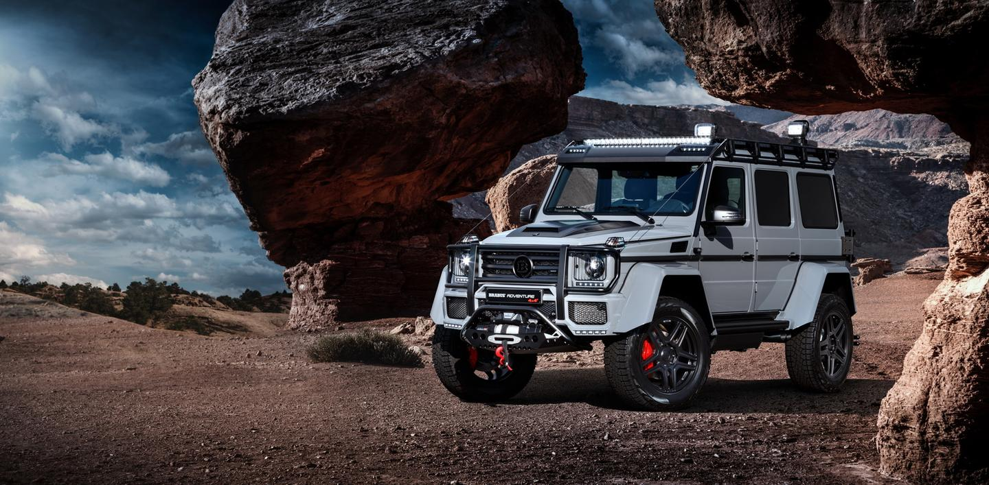 The big, imposing G500 4x4 Squared looks a little sportier and more adventurous thanks to Brabus
