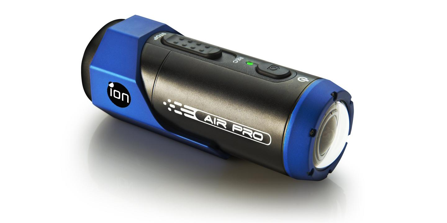 The ION AIR PRO is waterproof to 30 feet (10 meters) without the need to add an extra outer casing, benefits from one click record and its wide-angle lens offers a 170 degree field of view