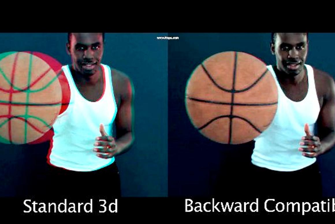Backward-compatible Stereo 3D technology allows the same video to be watched in 2D and 3D at the same time