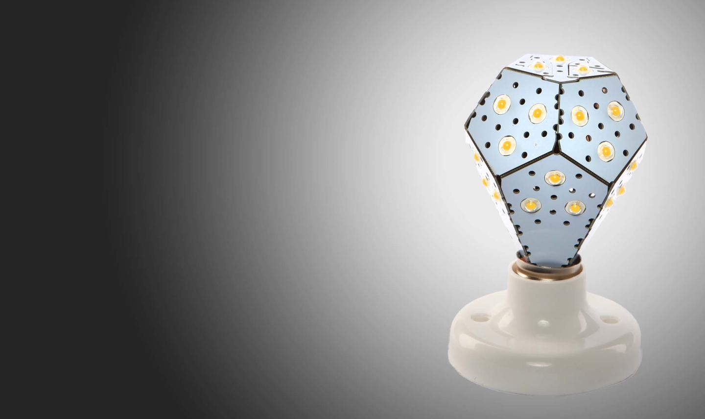 The NanoLight LED light bulb are available in Black or White versions (Image: NanoLight)