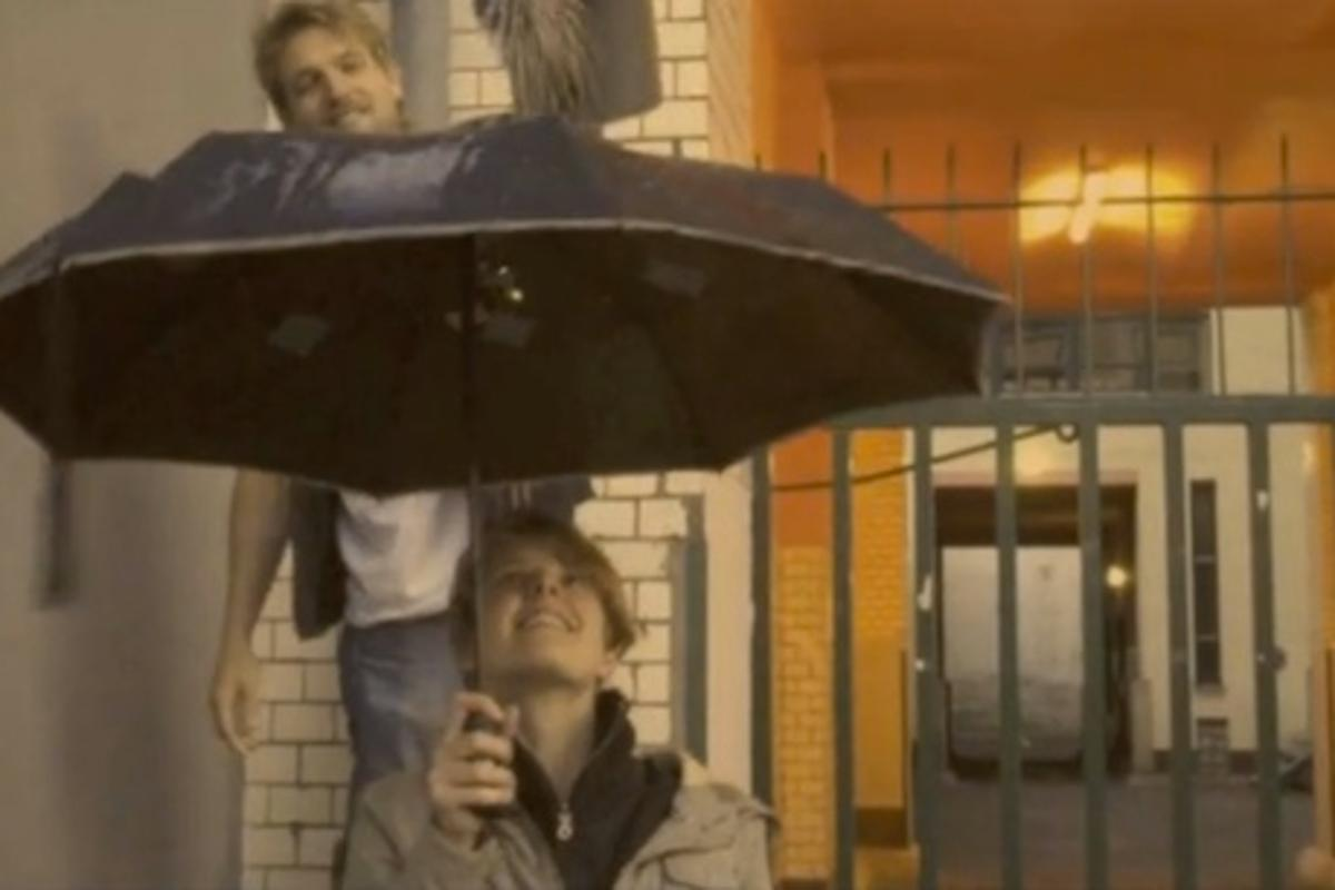 The musical umbrella was created by Berlin-based Alice Zappe and Julia Lager