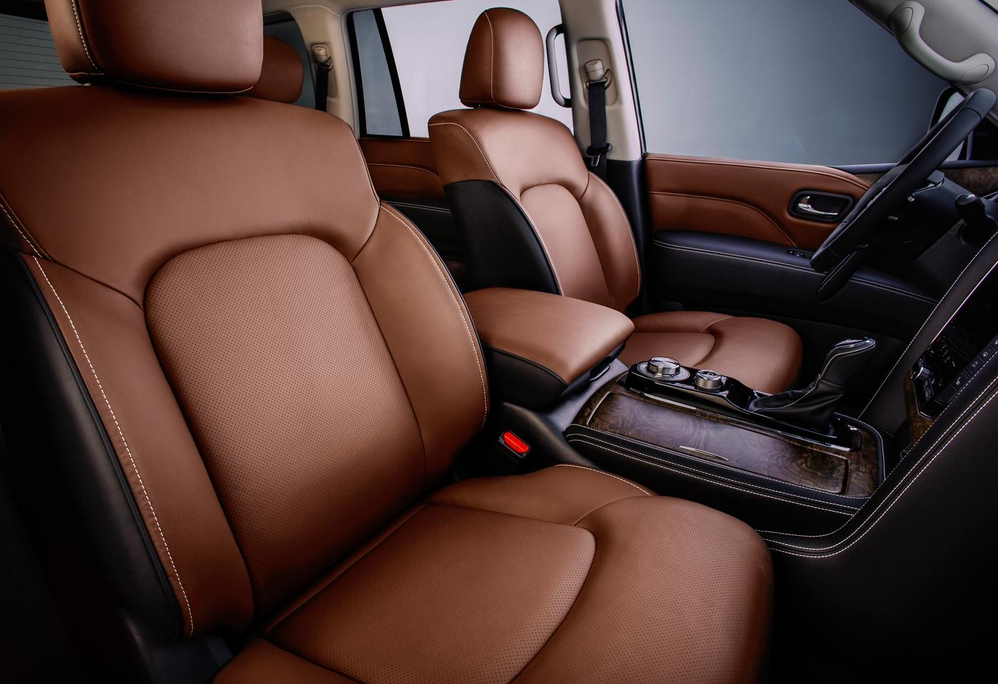 The 2020 QX80's interior is a bit dated compared to other luxury SUVs on the market, but still very lush and comfortable