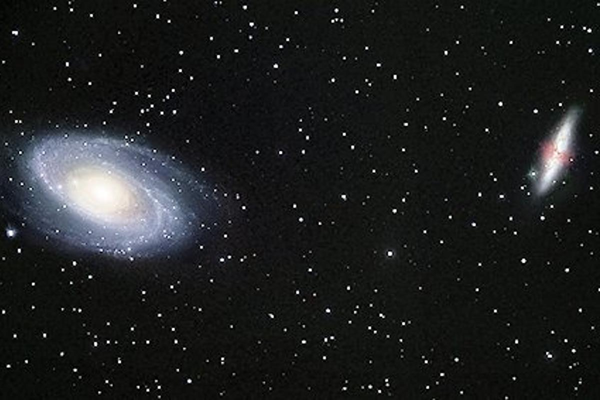 The galaxies M81 and M82 as photographed in a 12-inch telescope (Photo: NASA/Robert Gendler)