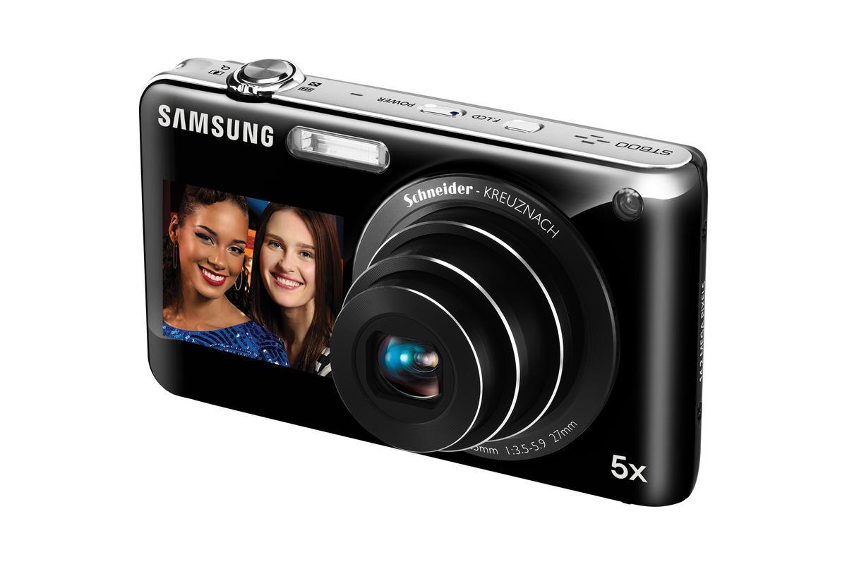 The ST600 sports a more familiar pop-out 5x optical zoom Schneider KREUZNACH lens
