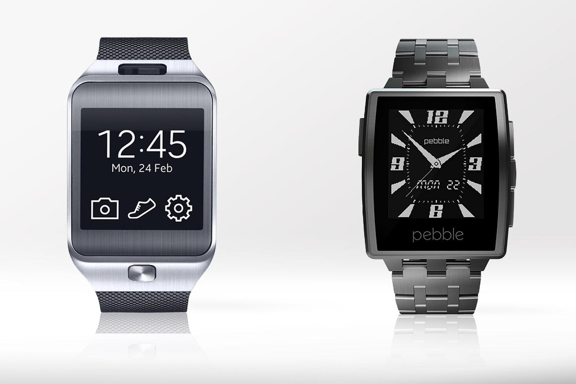 Gizmag compares the features and specs of the Samsung Gear 2 and Pebble Steel smartwatches