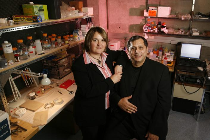 Researchers Mihri and Cengiz Ozkan, both professors in the Bourns College of Engineering (Photo: UCR)